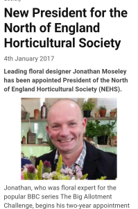 Jonathan Moseley appointed New President of NEHS
